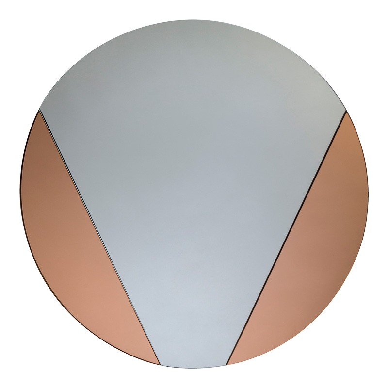 Rose Gold Round Mirror - Pensford