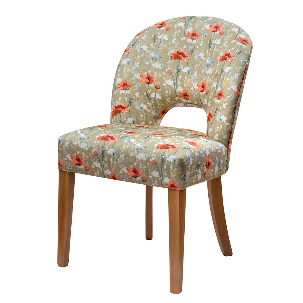 RSPB Poppies Upholstered Chair  - Nicole