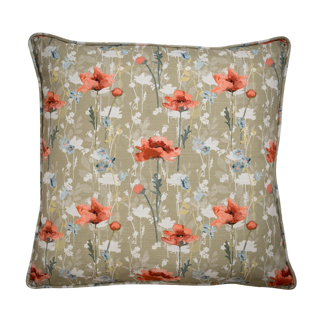 RSPB Large Cushion - Poppies