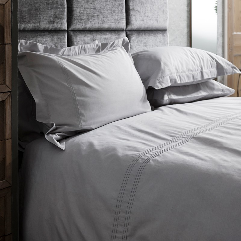 Kingsley Grey Pleat Oxford Pillowcases