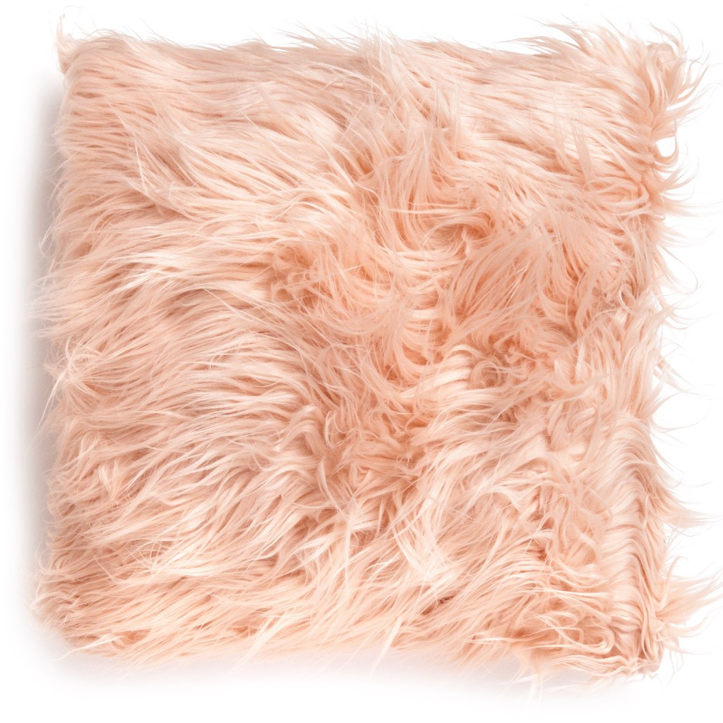 Minsted Blush Mongolian Fur Cushion