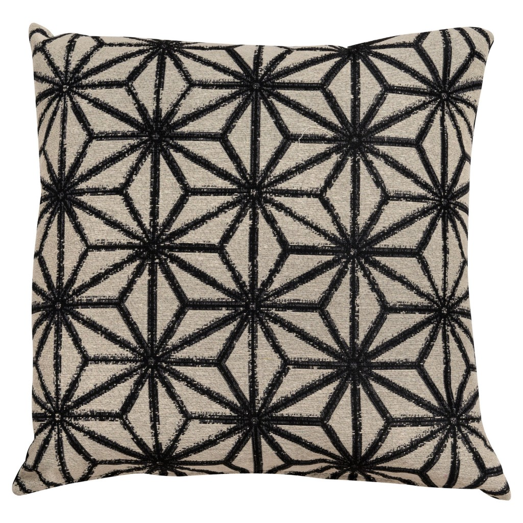 Prinsted Monochrome Stitch Cushion