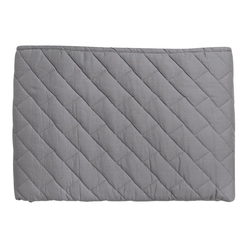 Bramber Grey Block Quilted Throw