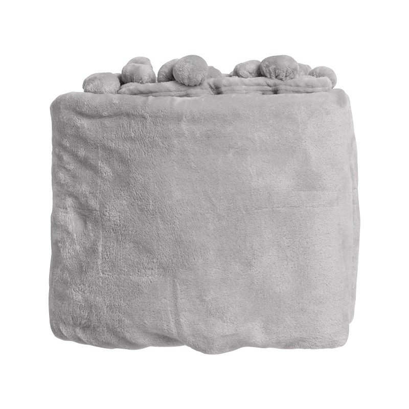 Bignor Grey Pom Pom Throw