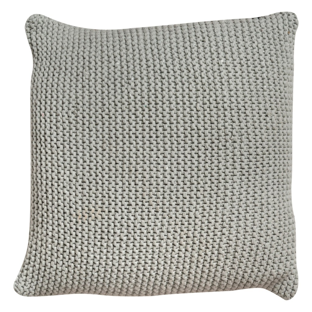 Oving Silver Knitted Sequin Cushion