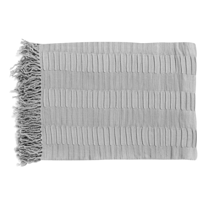 Linfield Silver Pleat Throw
